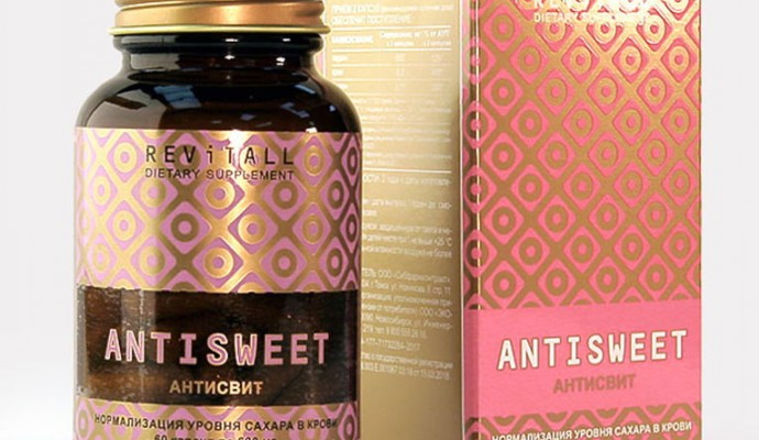 Бад Revitall ANTISWEET, 60 капсул