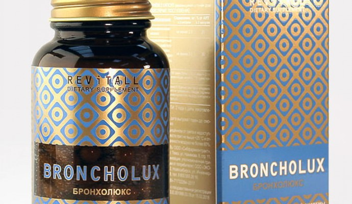 Бад Revitall BRONCHOLUX, 60 капсул